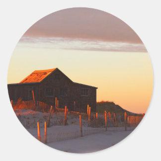 Adesivo Redondo Casa no por do sol - 1