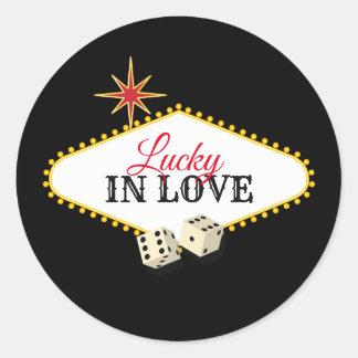 Adesivo Redondo Casamento do famoso de Las Vegas no preto