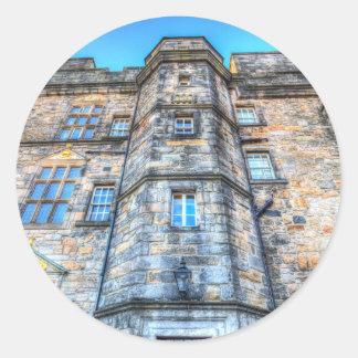 Adesivo Redondo Castelo Scotland de Edimburgo