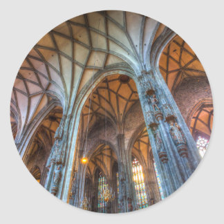 Adesivo Redondo Catedral Viena de Stephens da rua