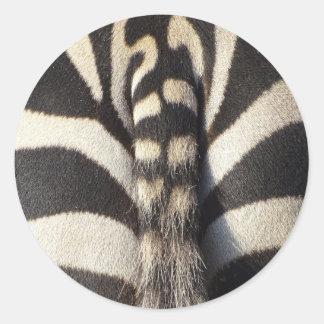 Adesivo Redondo Cauda da zebra