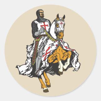 Adesivo Redondo Cavaleiro de Templar