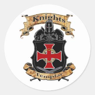 Adesivo Redondo Cavaleiros Templar