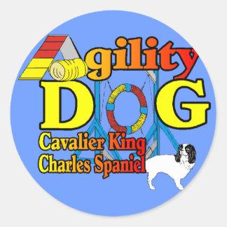 Adesivo Redondo Cavalier_King_Charles_Spaniel_Agility