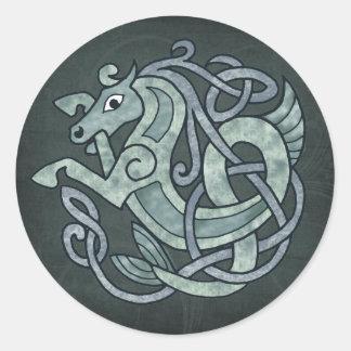 Adesivo Redondo Cavalo celta