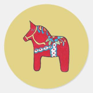 Adesivo Redondo Cavalo de Dala
