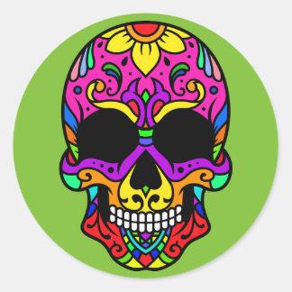 Adesivo Redondo Caveira Skull