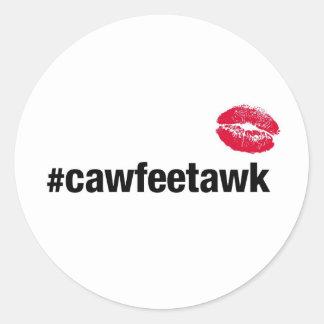 Adesivo Redondo #cawfeetawk (etiqueta)