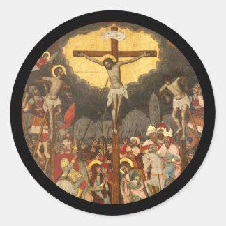 Adesivo Redondo Cena 1711 da crucificação