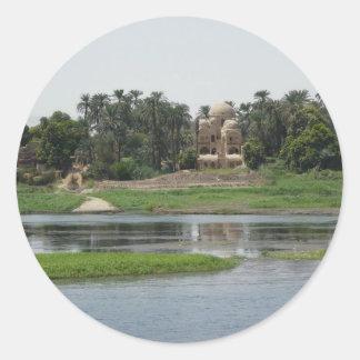 Adesivo Redondo Cena de Nile do rio