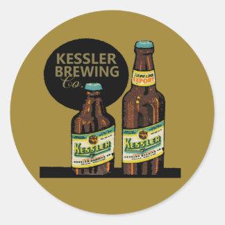 Adesivo Redondo Cerveja da exportação de Kessler
