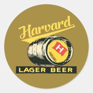 Adesivo Redondo Cerveja de cerveja pilsen de Harvard