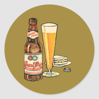 Adesivo Redondo Cerveja de cerveja pilsen premiada grande