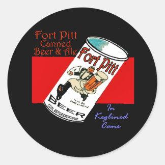 Adesivo Redondo Cerveja de Pitt do forte