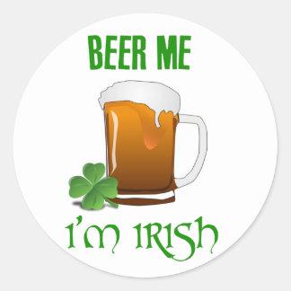 Adesivo Redondo Cerveja mim eu sou irlandês