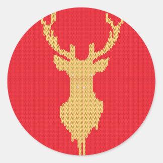Adesivo Redondo Cervos feitos malha