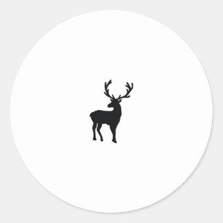 Adesivo Redondo Cervos preto e branco