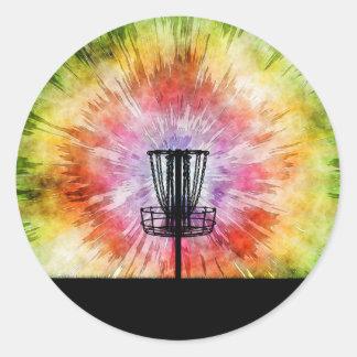 Adesivo Redondo Cesta do golfe do disco da tintura do laço