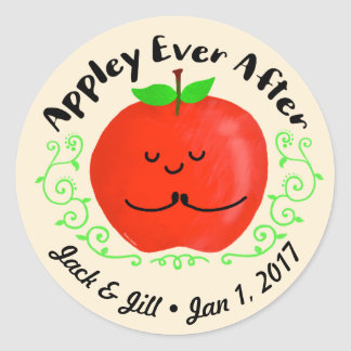 Adesivo Redondo Chalaça positiva de Apple - Appley sempre em
