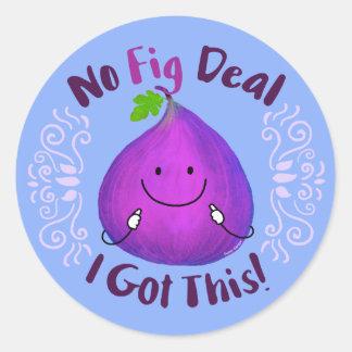 Adesivo Redondo Chalaça positiva do figo - nenhum negócio do figo