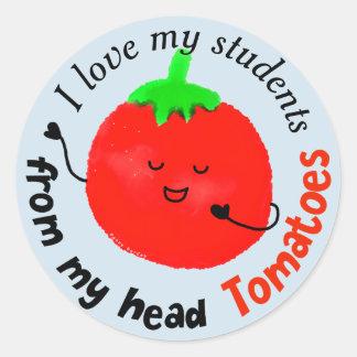 Adesivo Redondo Chalaça positiva do tomate - de meus tomates
