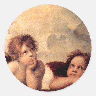 Adesivo Redondo Cherubim - Raphael