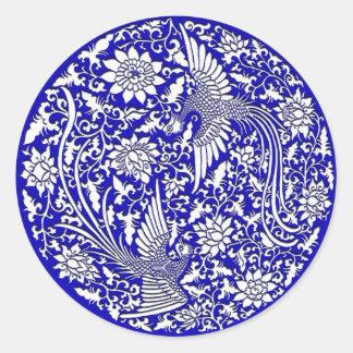 Adesivo Redondo Chinês phoenix