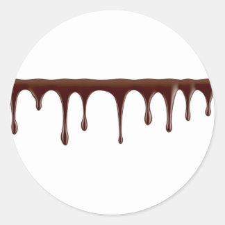 Adesivo Redondo Chocolate derretido