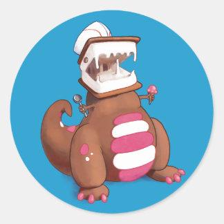 Adesivo Redondo Chocolatey-Rex
