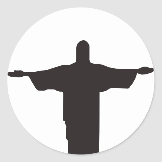 Adesivo Redondo Christ