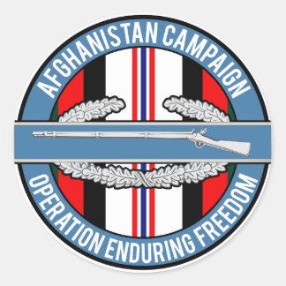 Adesivo Redondo CIB de Afeganistão OEF