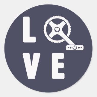 Adesivo Redondo Ciclismo do amor