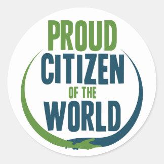 Adesivo Redondo Cidadão orgulhoso do mundo