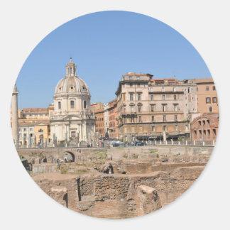 Adesivo Redondo Cidade antiga de Roma, Italia