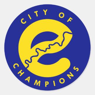 Adesivo Redondo Cidade de Edmonton dos campeões