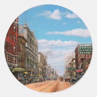 Adesivo Redondo Cidade - Memphis TN - alameda 1909 da rua