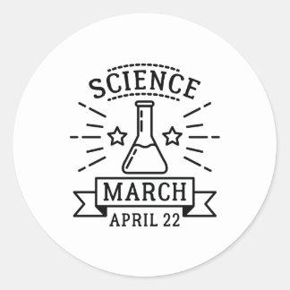 Adesivo Redondo Ciência março