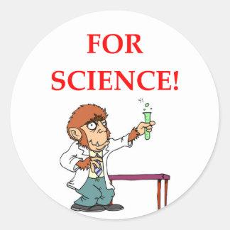 Adesivo Redondo cientista louco