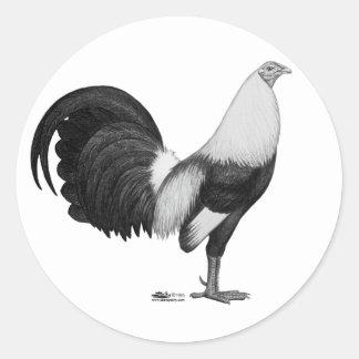 Adesivo Redondo Cinza Duckwing do Gamecock