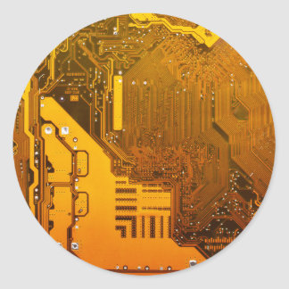 Adesivo Redondo circuito eletrônico amarelo board.JPG