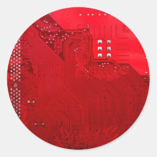 Adesivo Redondo circuito eletrônico vermelho board.JPG
