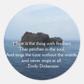 Adesivo Redondo CITAÇÕES inspiradas de Emily Dickenson para curar