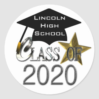 Adesivo Redondo Classe dos selos 2020 da graduação