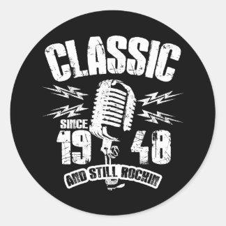 Adesivo Redondo Clássico desde 1948 e ainda Rockin