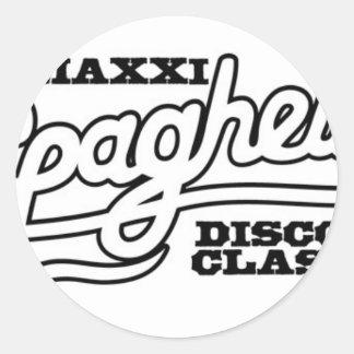 ADESIVO REDONDO CLÁSSICOS DO DISCO DOS ESPAGUETES DO DJ MAXXI