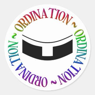 Adesivo Redondo Classificação - ordens santamente