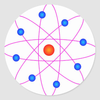 Adesivo Redondo clipart modelo do vetor do átomo