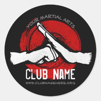 Adesivo Redondo Clube das artes marciais