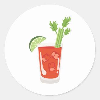 Adesivo Redondo Cocktail do Bloody Mary