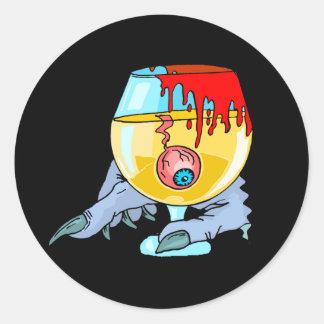 Adesivo Redondo Cocktail do globo ocular